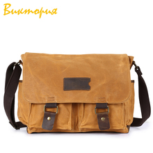 CHARAS brand High quality canvas messenger bags men/women Shoulder Bags waterproof Fabric capacity Laptop bag Travel