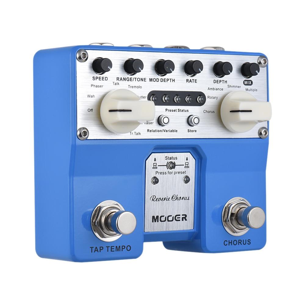 HOT SALE MOOER Reverie Chorus Guitar Effect Pedal 5 Chorus Modes 8 Enhancing Effects Tap Tempo