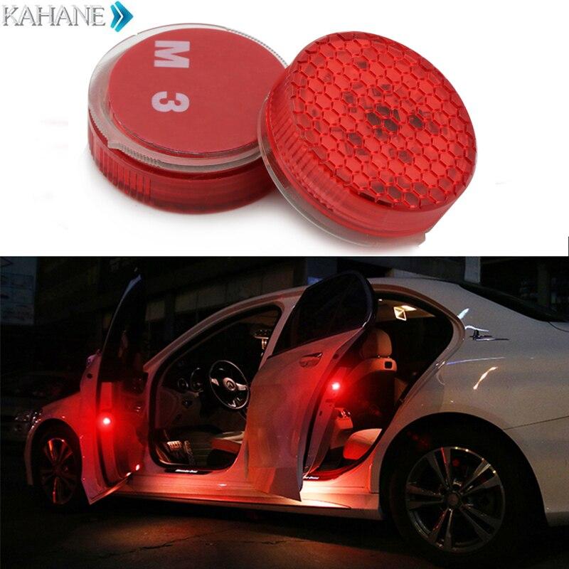 2PCS Flashing LED Warning Lamp Anti-Collision Strobe Traffic Red Car Door Lights for BMW E46 E39 E60 E90 E36 F30 F10 x5 e53 f20