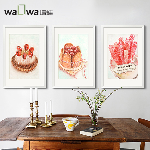 Sweet delicacy Ding Jiajing wall frog modern minimalist restaurant wall cake shop hang mural hotel decoration painting