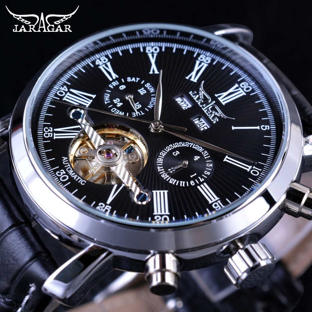 JARAGAR 2017 Бизнес серии Мужчины Женева агентов Джеймс Бонд турбийон Дизайн мужские Часы лучший бренд класса люкс автоматические Часы