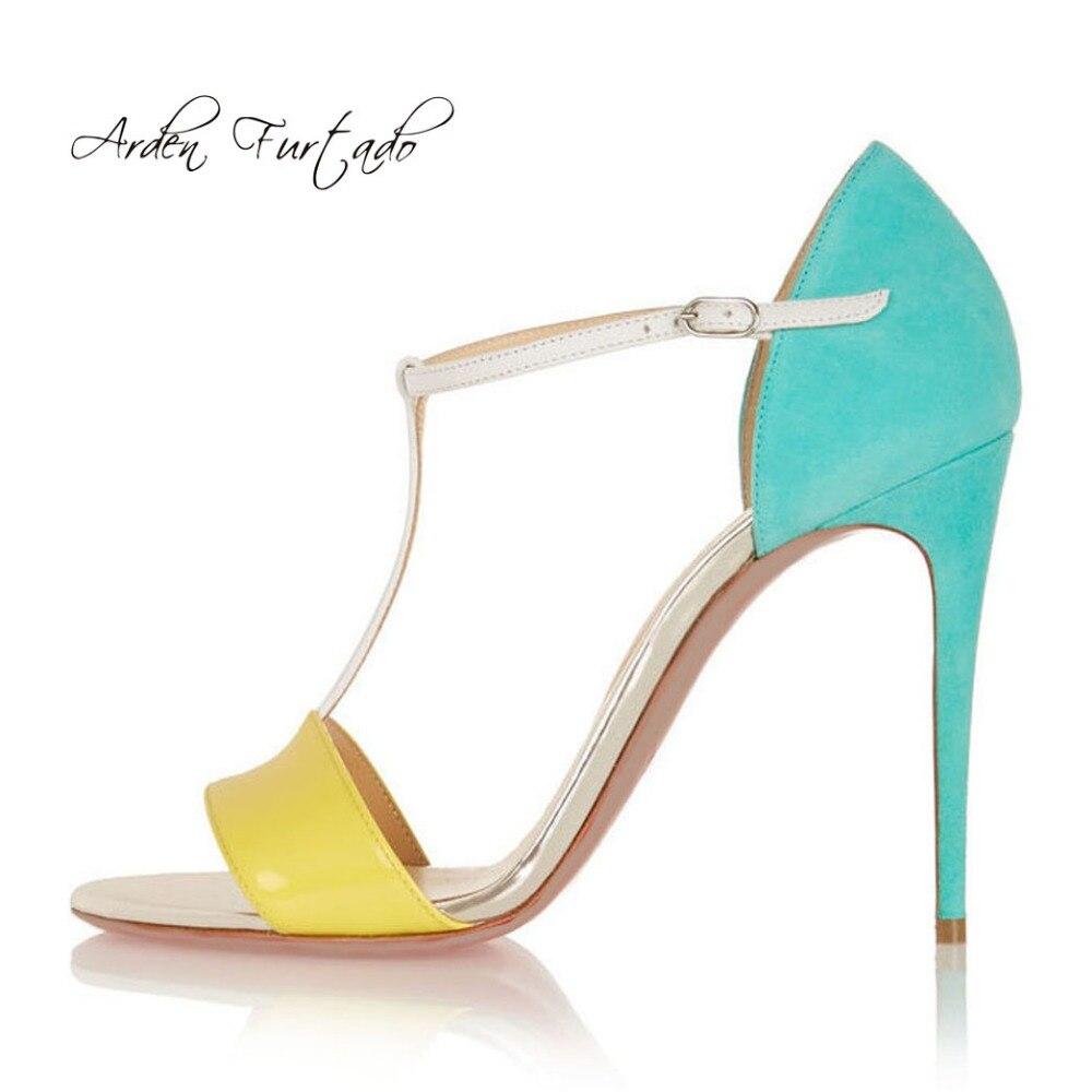 Fino Tacones 2018 Zapatos Mezclados Altos Furtado Mujer T Sandalias qAR3j54L