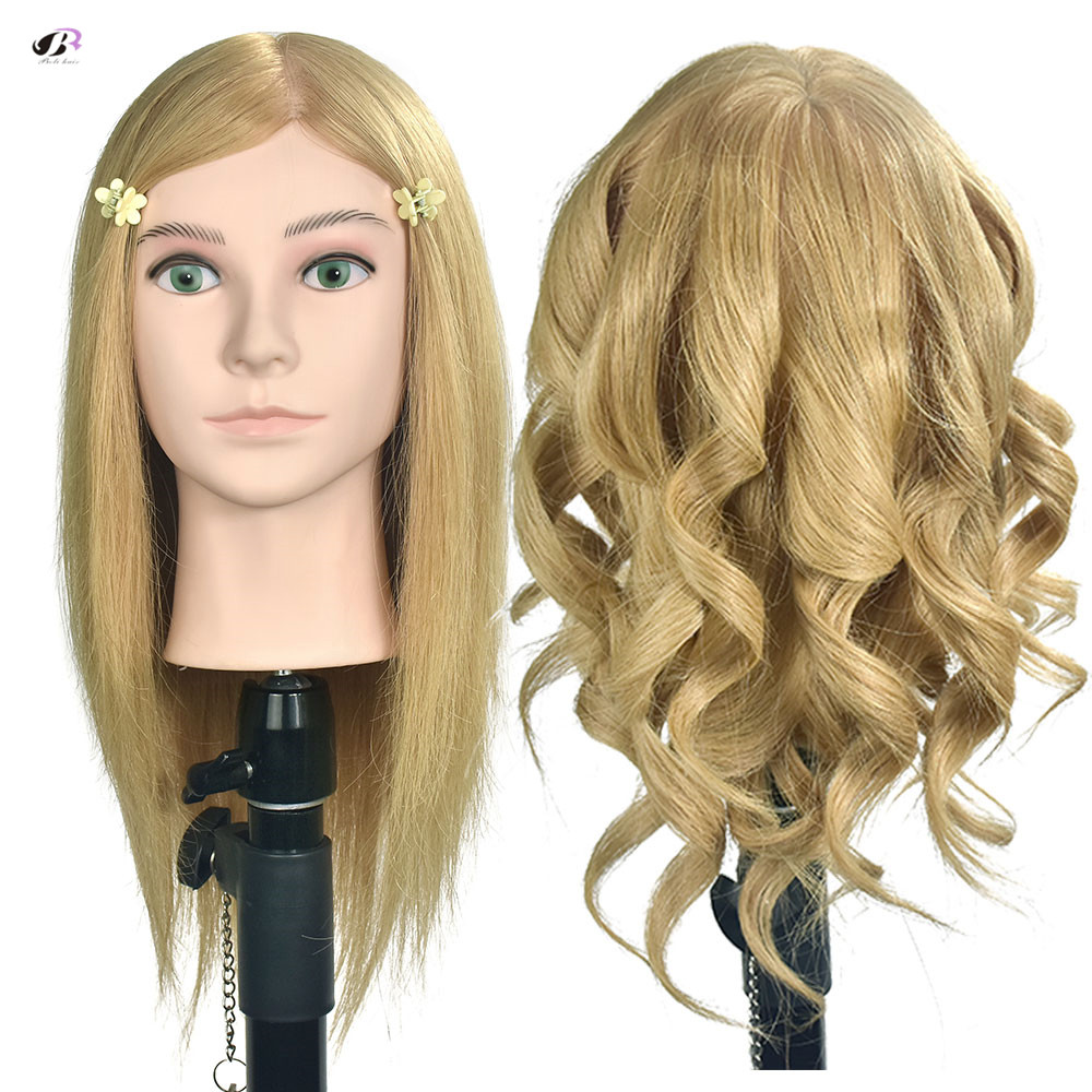 16inch 100 Human Hair Blonde Hair Mannequin Head Salon Training Female Mannequin Head Hairstyles Cosmetology Hairdressing Tools16inch 100 Human Hair Blonde Hair Mannequin Head Salon Training Female Mannequin Head Hairstyles Cosmetology Hairdressing Tools