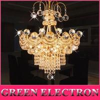 Luxury K9 Crystal Chandelier Modern Dinning Room LED Crystal Lamp Living Room Fashion Gold/Silver Crystal Lighting Decoration