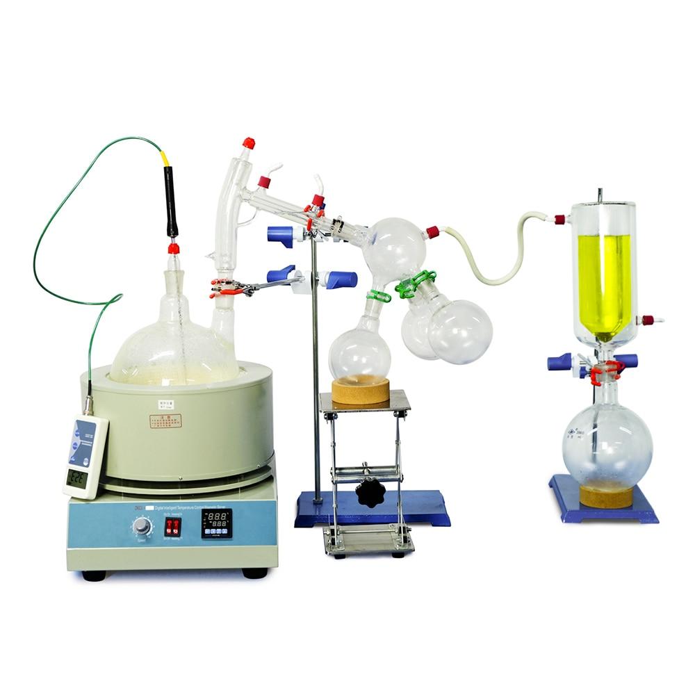 Купить с кэшбэком Lab Equipment 2L Short Path Distillation Kit Complete Turnkey Package w/ Vacuum Pump & Chiller