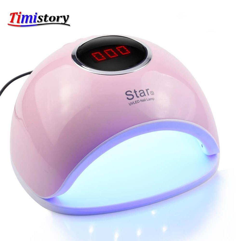 72 W lámpara UV lámpara Led para manicura uñas 33 piezas Leds secador de uñas para curar esmalte de uñas herramientas de uñas con detección de infrarrojos 3 Color
