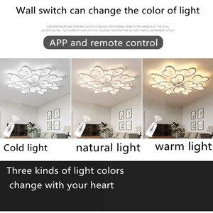 Image 5 - Moderne Led Kroonluchter App Met Afstandsbediening Acryl Lamp Voor Woonkamer Slaapkamer Keuken Thuis Kroonluchter Plafond