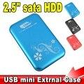 "Metal 2.5 ""Cubierta de 2.5 pulgadas USB 3.0 HDD Case Disco Duro SATA External USB3.0 HDD De Almacenamiento caja de Caja de Aluminio"