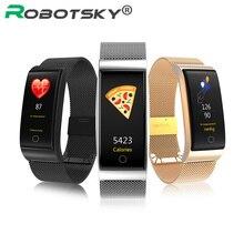 F4 Smart группа крови Давление монитор сердечного ритма Для мужчин Для женщин браслет Фитнес спортивные часы Шагомер Smart металлический браслет