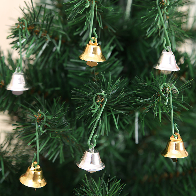 Jingle Bell Tree Decorations Inspiration 10Pcs Jingle Bells Gold Silver Christmas Bells For Christmas Tree Design Ideas