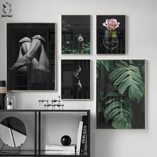 Nordic Poster Canvas Wall Art Flower Painting Home Deor Pictures Print for Living Room Morden