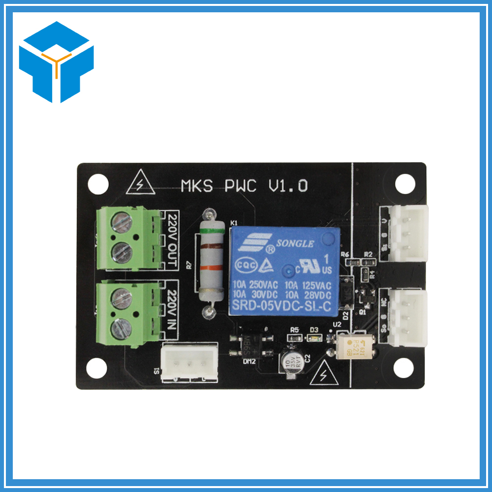 цена на 3D Printer Electronic Parts MKS PWC Controller Board+Button switch+3 pin Male Dupont Cable Support Marlin Smoothieware 3D0337