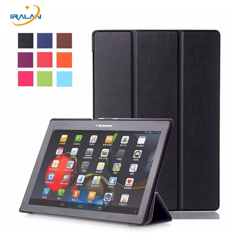 חם 3 ב 1 עבור Lenovo Tab 2 A10-70F / L כיסוי 10.1 אינץ 'חכם עומד מגנטי Flip עבור A10-30 X30F tab3 10 עסקים TB3-X70F / M במקרה