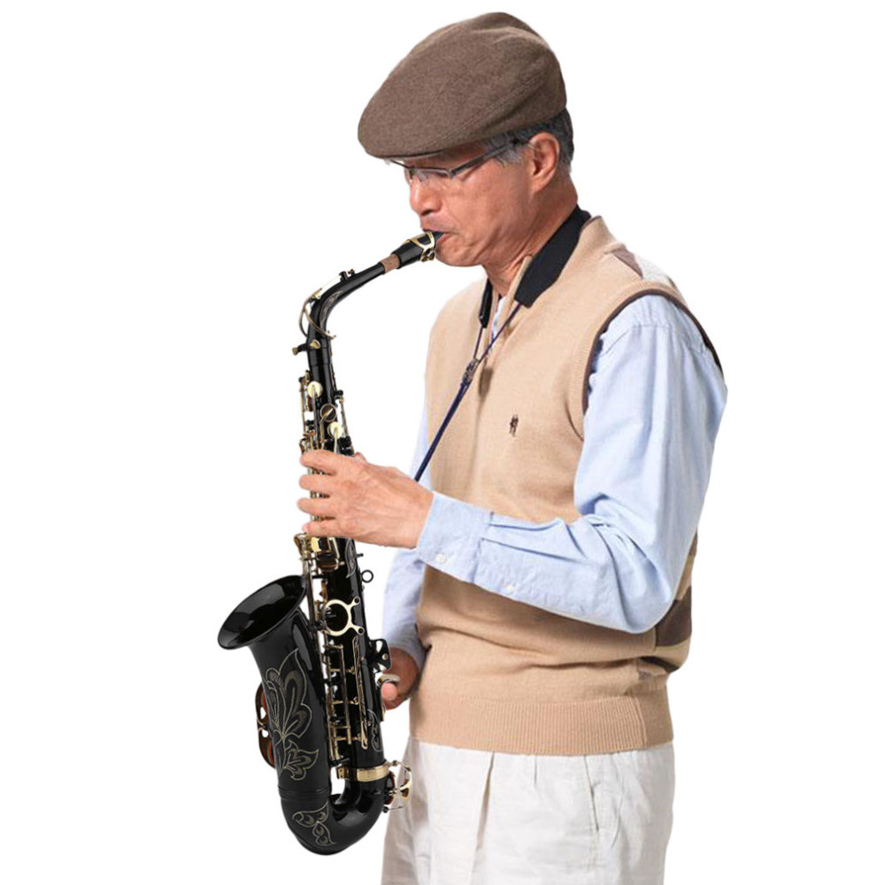 Nouveau Eb Alto Saxophone Sax Ensemble Durable Basse Corps Instruments de Musique Professionnel Personnel Eb Alto Saxophone Sax Kits Cadeaux