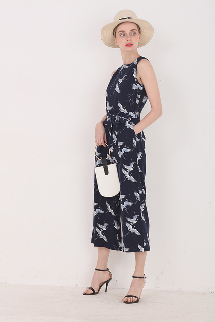 Printed Ankle-Length Jumpsuit for Women