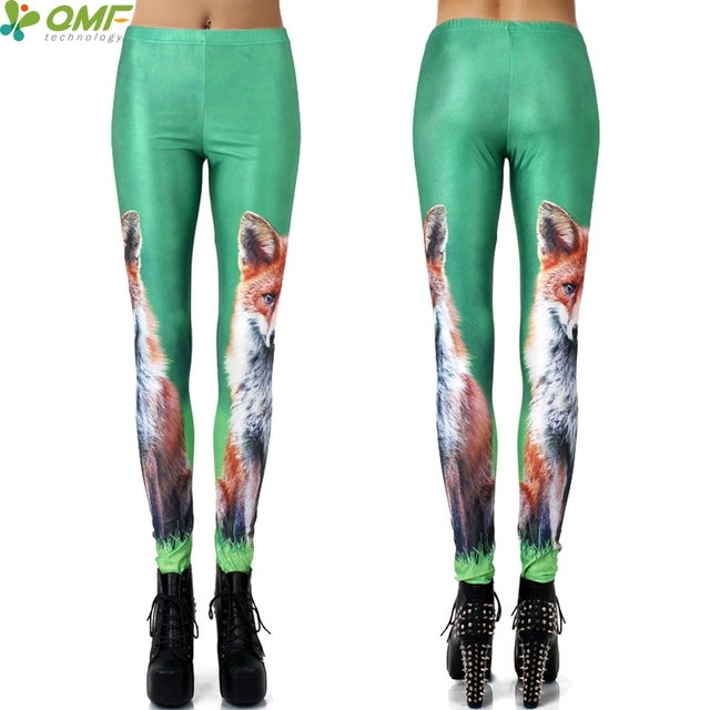 a8a170140259f Animal Fox Print Women Yoga Pants Skinny Pilates Leggings Fitness Sports  Tights Halloween Pencil Trouser Cosplay Pants Bodycon