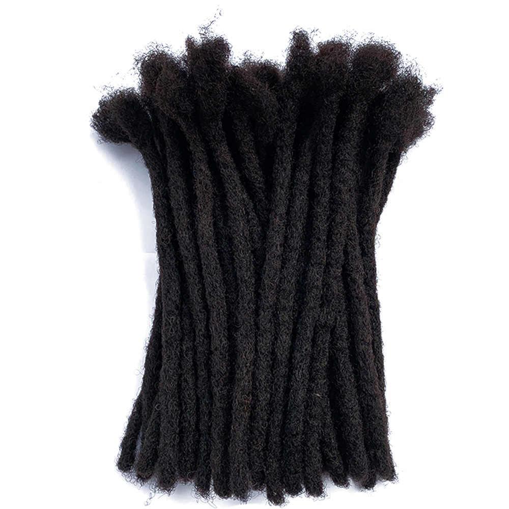 """YONNA 100% Remy ludzki włos dredy przedłużanie włosów całkowicie ręczne wykonanie 0.8cm szerokość (1/3 """") 40 Locs/wiązki"""