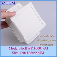 4 pcs/lot electric box electronics enclosures 120x168x55mm weatherproof  electronics enclosures