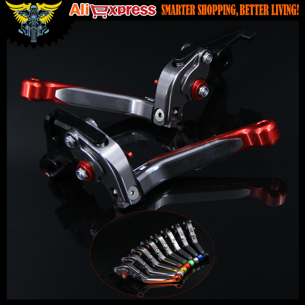 Red+Titanium CNC Adjustable Folding Extendable Motorcycle Brake Clutch Levers For Yamaha YZF R6 1999 2000 2001 2002 2003 2004 adjustable cnc billet alu long folding adjustable brake clutch levers for yamaha fz6 fazer 1997 2003 1998 1999 2000 2001 2002