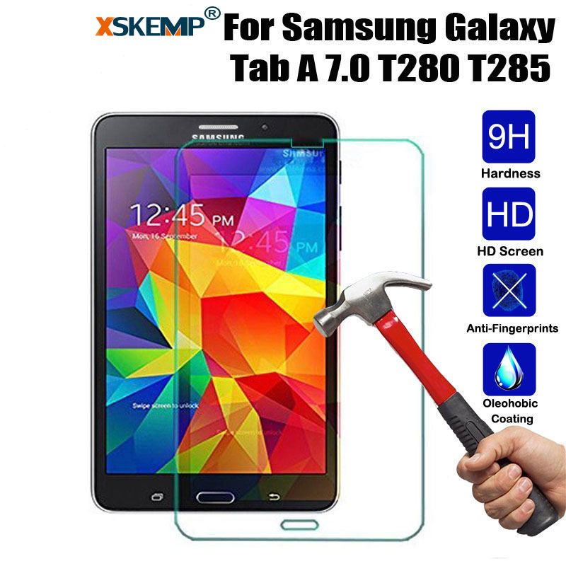 XSKEMP 9H Premium Tempered Glass For <font><b>Samsung</b></font> <font><b>GALAXY</b></font> <font><b>Tab</b></font> <font><b>A</b></font> <font><b>7.0</b></font> T280 T285 Anti-Shatter LCD Tablet <font><b>Screen</b></font> <font><b>Protector</b></font> Protective Film image
