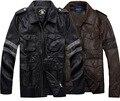 Люди Вскользь Resident Evil Леон Кеннеди Кожаные Куртки Верхняя Одежда Мотоцикл Пальто Одежда Косплей Костюм Черный Коричневый Цвет