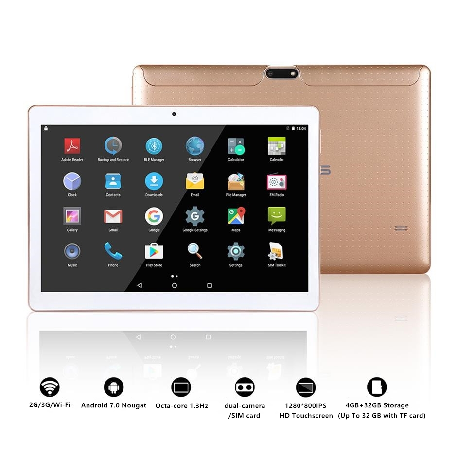 LNMBBS NEWEST DISCOUNT Tablet PC 32GB ROM Octa Core Android 7.0 4G RAM 10.1 inch 1280X800 Dual SIM Card WiFi Bluetooth Tablets lnmbbs 10 1 inch phone call tablet pc android 7 0 2gb ram 32gb rom octa core dual camare gps bluetooth wifi newest tablets store