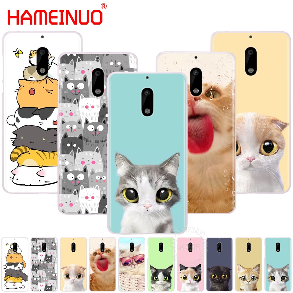 HAMEINUO cat cute meow animal cover phone case for Nokia 9 8 7 6 5 3 Lumia 630 640 640XL