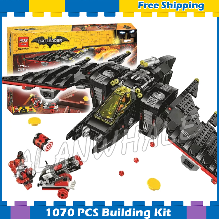 1068pcs Super Heroes Batman Movie The Batwing Fighter DIY 10739 Model Building Blocks Chidren Gifts Sets Compatible With lego