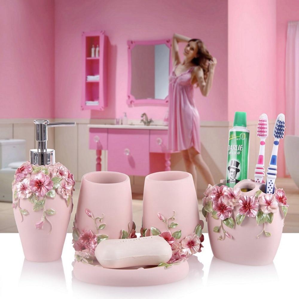 Beautiful Modern Princess Style Handcraft Bathroom Set Wedding Decor Bath Accessory  Toothbrush Toothpaste Holder Soap Dish Room Wash Sets In Bathroom  Accessories Sets ...