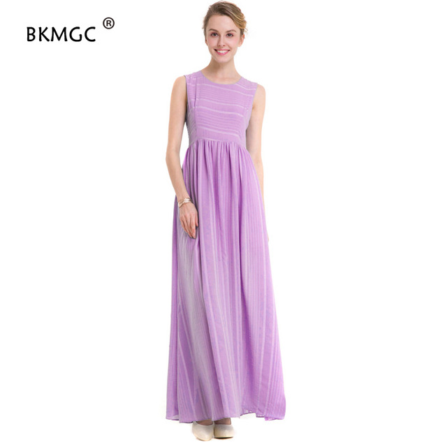 kz101 New Women Dress Custom color Pleated fashionable Dress Casual Feminine Evening Plus Size Maxi Striped