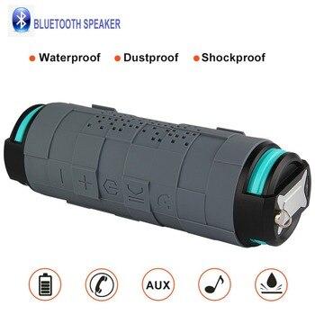 5200mAh 10W Outdoor Shockproof Portable Column Bluetooth 4.0 Wireless Sport Speaker Bluetooth wireless with power bank