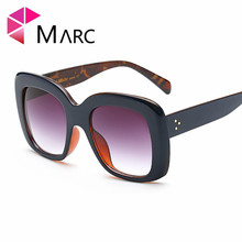 MARC UV400 WOMEN MEN sunglasses Oculos eyewear gafas Sol Clear fashion Gradient Shield Plastic