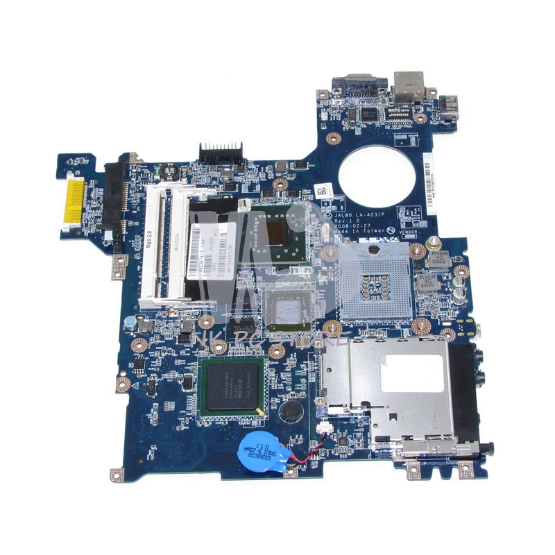 CN-0D813K Main board for Dell Vostro 1310 Laptop Motherboard JAL80 LA-4231P PM965 DDR2 Free CPU nokotion brand new qcl00 la 8241p cn 06d5dg 06d5dg 6d5dg for dell inspiron 15r 5520 laptop motherboard hd7670m 1gb graphics