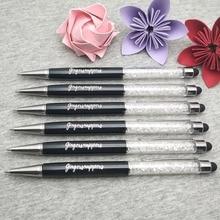 Ücretsiz LOGO ile özelleştirilmiş/şirket adı * elmas dokunmatik kalem kristal kalemler ballpen ofis okul promosyon hediye