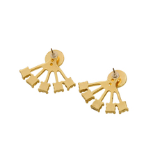 KISS MEBrand Antique Gold Color Crystal Earrings Women Fashion Jewelry 2016 New Stud Earrings