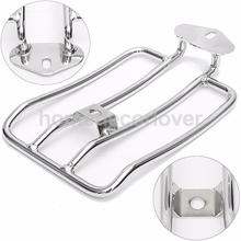 Motorcycle Silver Luggage Rack Shelf Tail Frame Carrier for Harley Solo Seat
