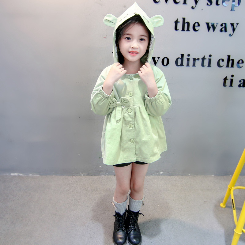 Fashion Autumn Girls Coats Baby Cotton Jackets Cute Ears Coat Spring Girl's Clothes Hoodied Christmas Gift Coats