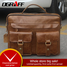 aa03fb01f35 OGRAFF Genuine Leather Bag Men Messenger Bags Handbag Briescase Business  Men Shoulder Bag High Quality 2018
