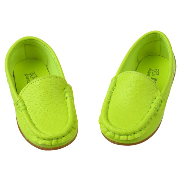 New Children Shoes Classic Fashion PU Shoes for Girls Boys Shoes Flat Casual Kids Shoes(Fluorescent Green,ORANGE )
