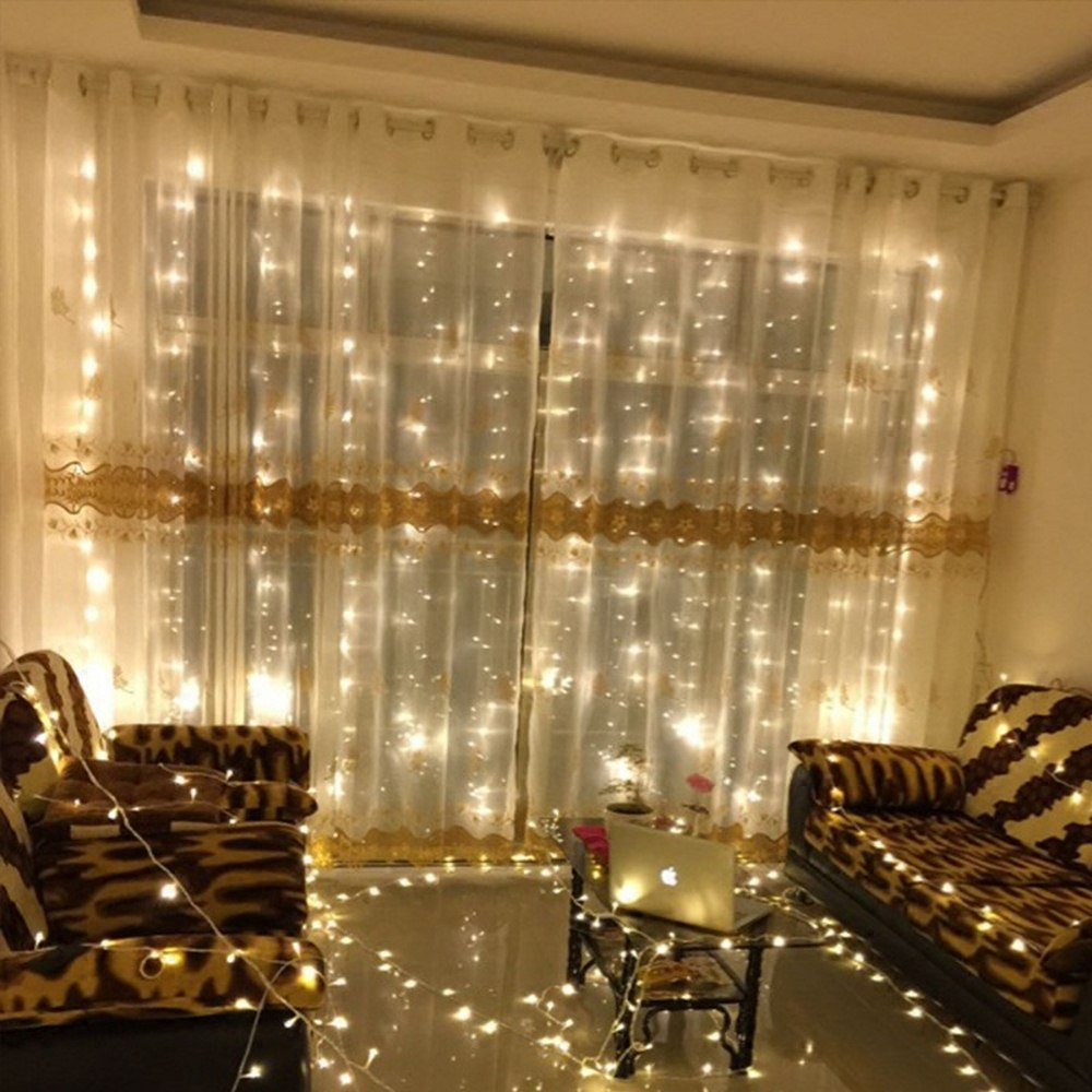 Us 8 24 31 Off Led Lights Decoration Curtain Light String Fairy Living Home Festival For Wedding Party In