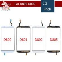 купить 10pcs/lot 5.2 For LG G2 D802 D805 and G2 D800 D801 D803 Touch Screen Digitizer Sensor Outer Glass Lens Panel Replacement дешево