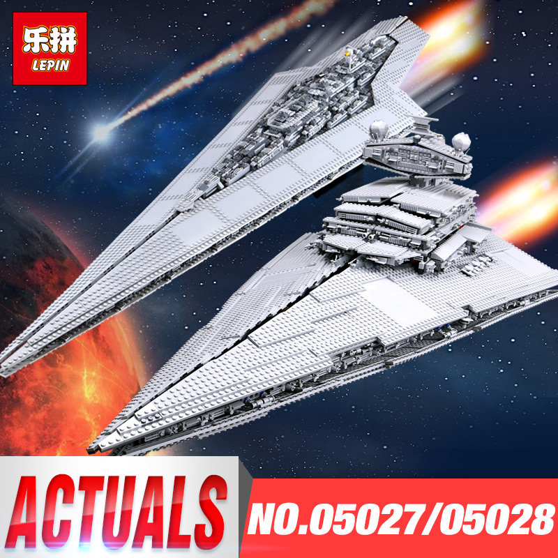 LEPIN 05027 05028 Emperor Fighters Ship legoINGs 10030 10221 Star Destroyer Children Toys Starship Building Blocks