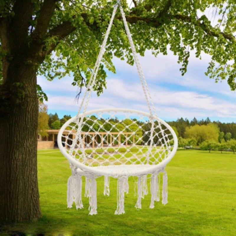 Oyuncaklar ve Hobi Ürünleri'ten Oyuncak Salıncaklar'de Iskandinav Tarzı El Yapımı Örme Asılı Hamak Açık iç mekan mobilyası Bebek Çocuk Yetişkin Asılı Sandalye Çocuk Salıncak Ev Dekor'da  Grup 1