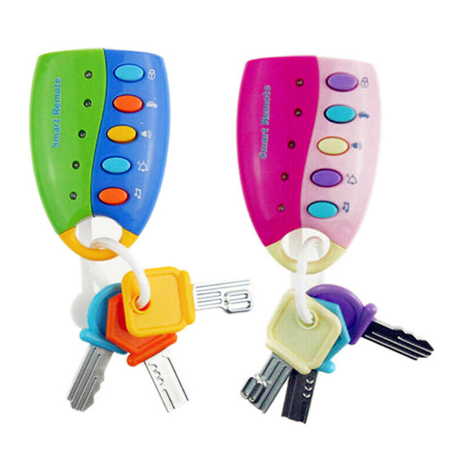 Latest Baby Musical Smart Remote Car Key Toy Car Voices Pretend Play Toys Supply
