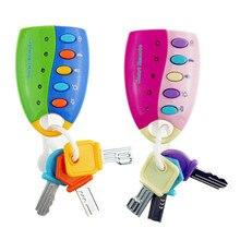 Dessin animé bébé jouet Musical voiture clé vocale Smart voiture à distance voix semblant jouer jouets éducatifs pour enfants bébé musique jouets