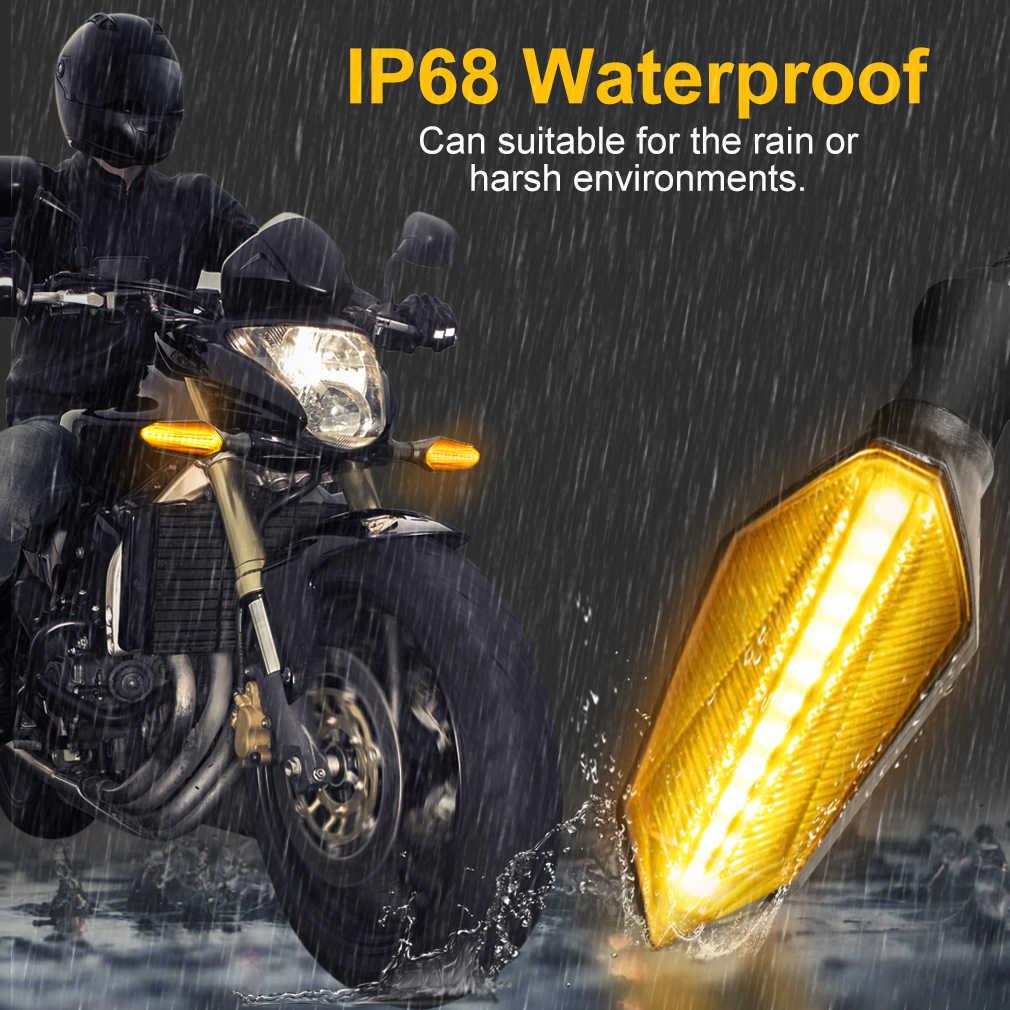 LUCIAUTO 4pcs Intermitentes Moto Flujo Indicadores de Motocicleta 18LED Luces de Se/ñal de Giro 12V Impermeable Universal para Motocicleta