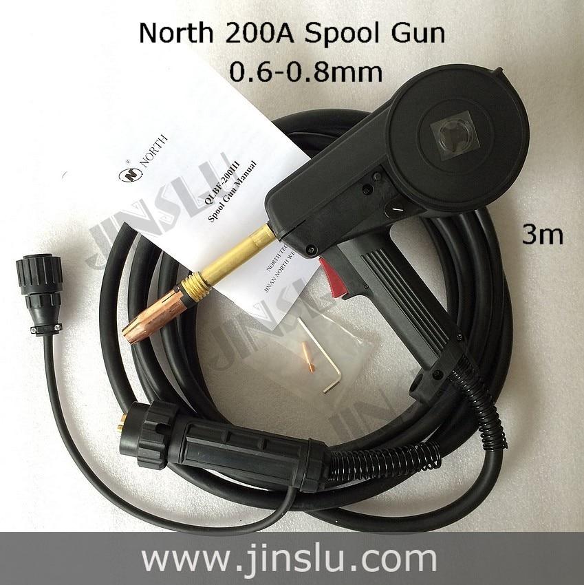 QLBF-200III 200A nord QLBF-200III pistolet à bobine MIG 3 M câble poussoir chargeur en aluminium acier torche de soudage JINSLU SALE1