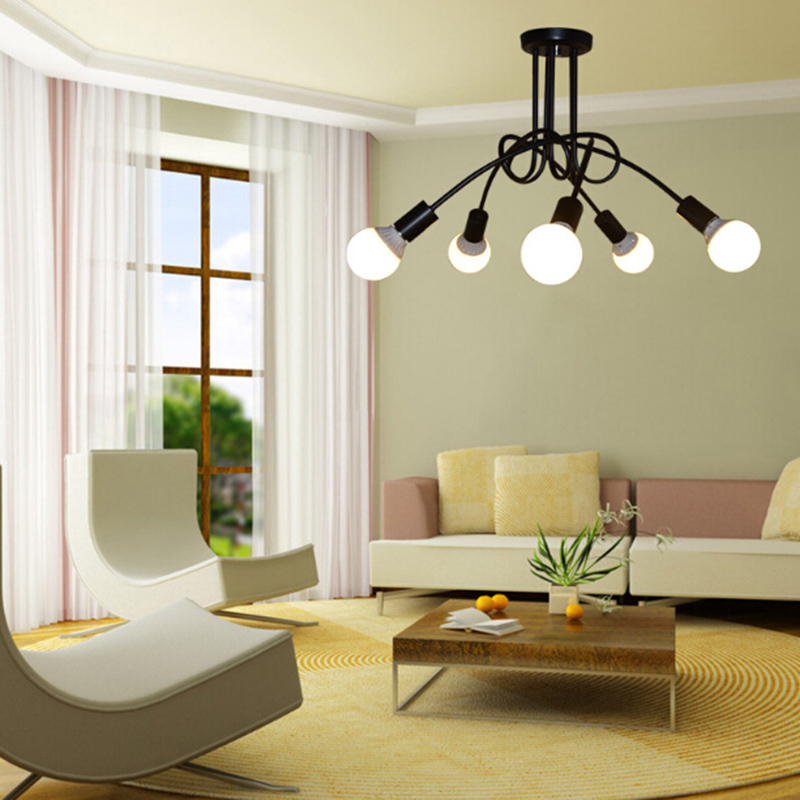 American country iron chandelier modern industrial pendan lamp american country iron chandelier modern industrial pendan lamp fixtures lustre luminaire plafonnier for living room in pendant lights from lights aloadofball Image collections