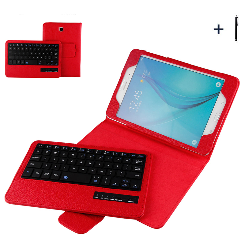 For Samsung Galaxy Tab A 8.0 T350 Wireless Bluetooth Keyboard Case For Tab A 8.0 P355 Tablet Flip Leather Stand Cover+Stylus планшеты samsung tab