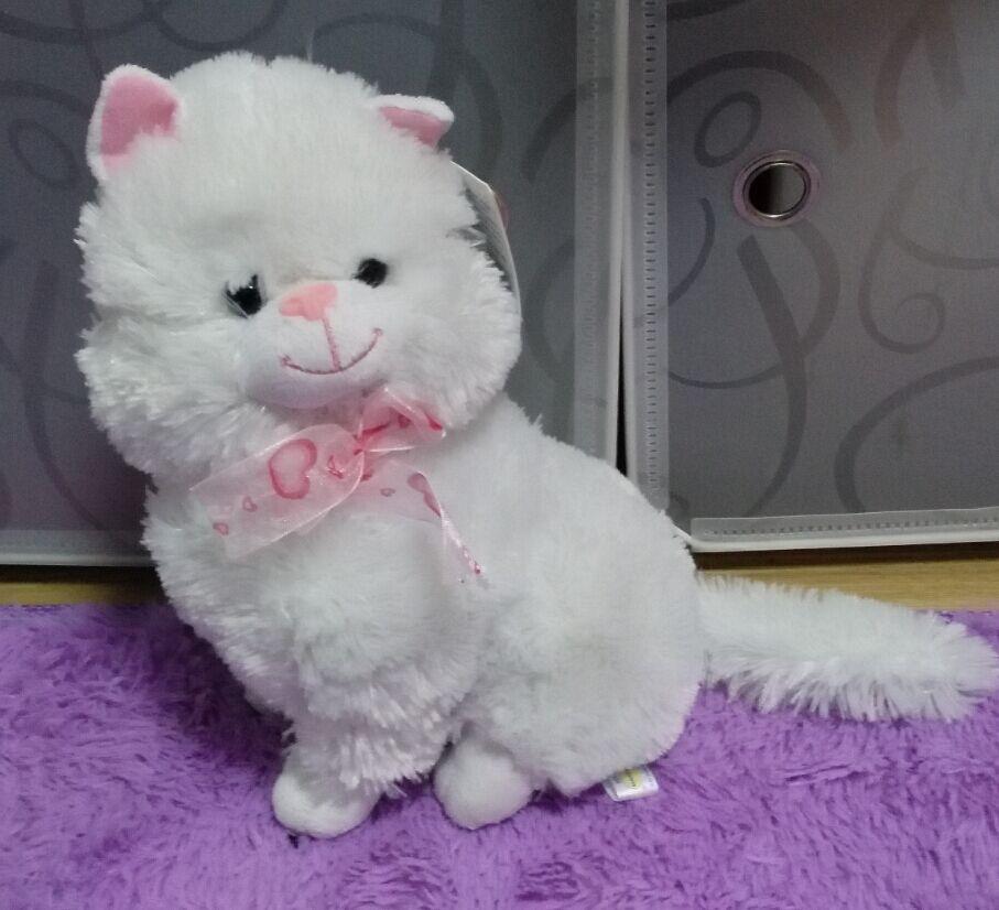 Русский язык Плюшевые Белый Кот говоря петь песни кукла, электронные игрушки для животных для детей Детский наряд для дня Рождения Рождеств...